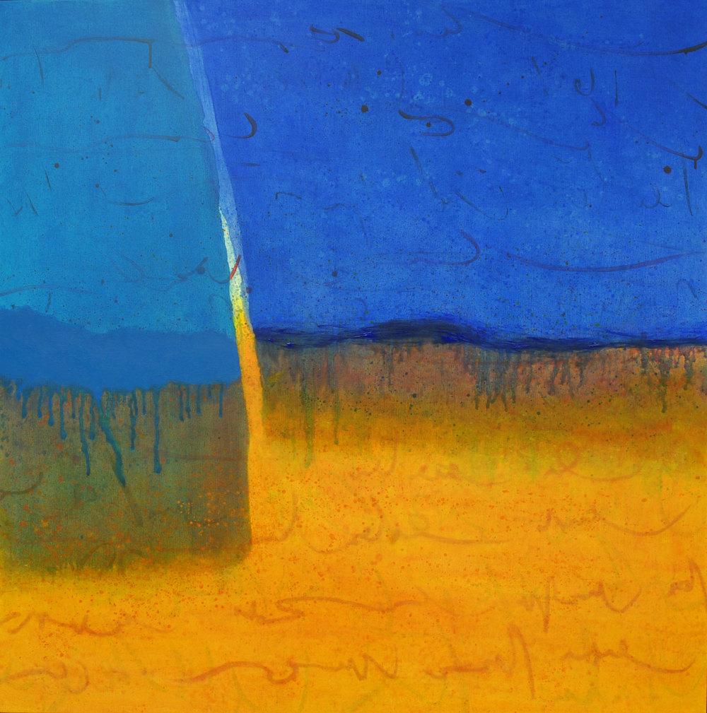mirage acrylique sur toile 119 x 119 cm