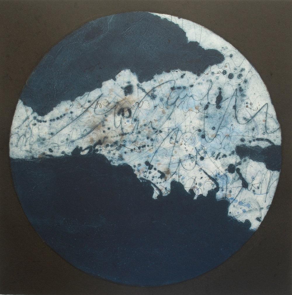 Lumière dans la nuit III, estampe, 57 x 57 cm