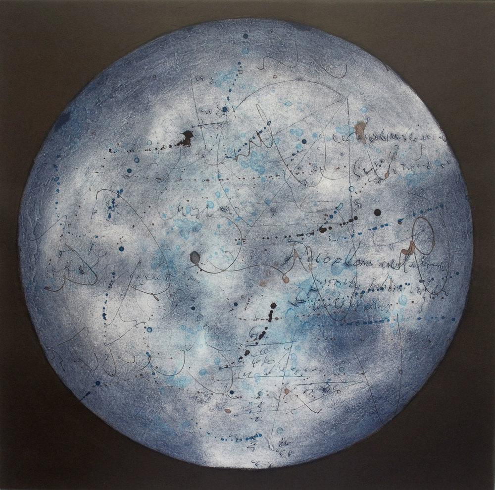 Lumière dans la nuit IV, estampe, 57 x 57 cm