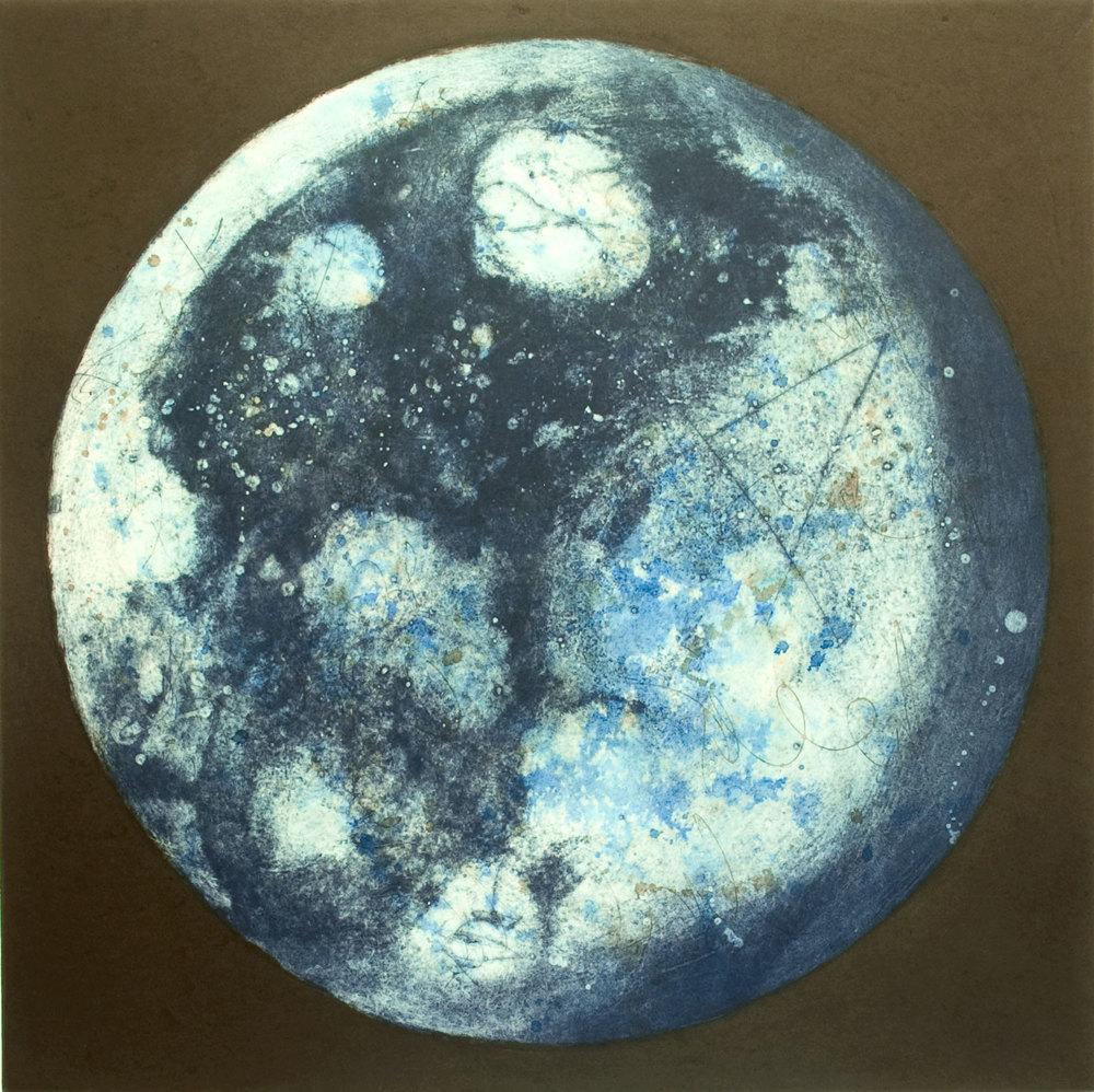 Lumière dans la nuit VI, estampe, 57 x 57 cm