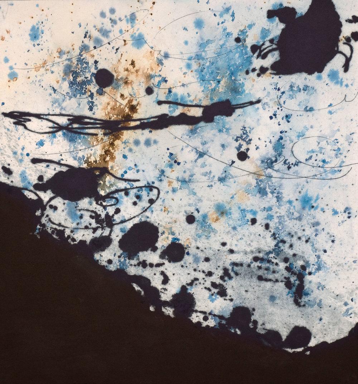 Nocturne, estampe, 49 x 47 cm
