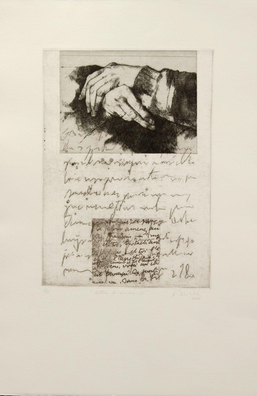 Lettre d'amour III, 57 x 38 cm