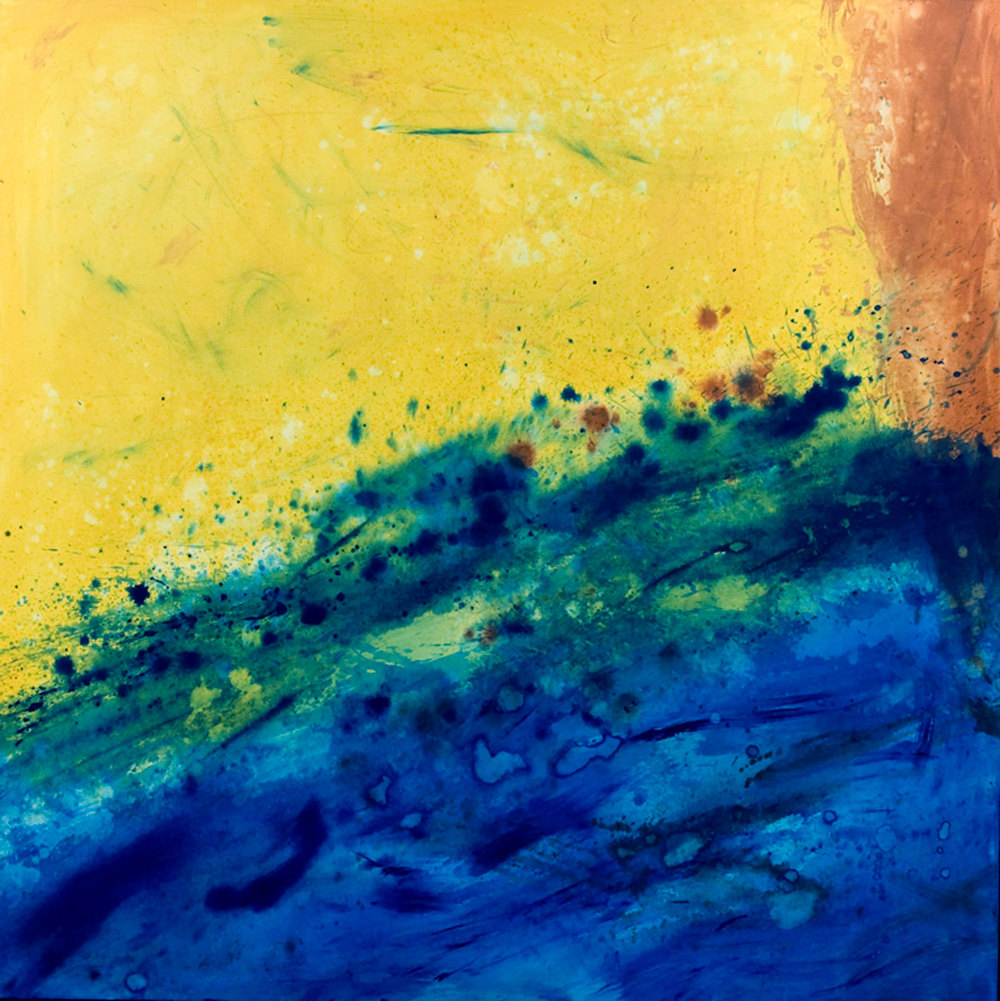 Cascade IB, acrylique sur toile 119 x 119 cm