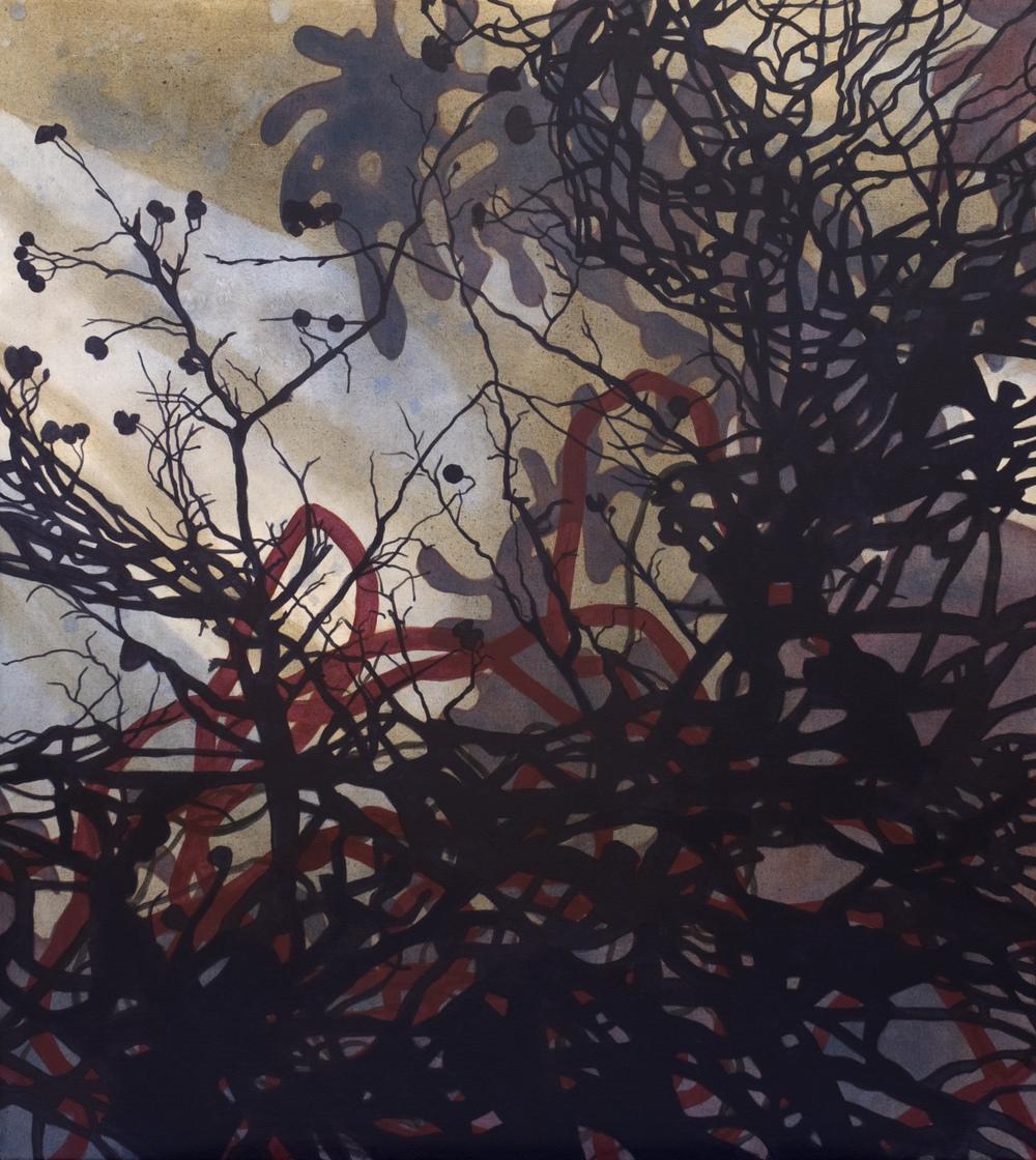 Broussailles  acrylique sur toile  122 x 91 cm