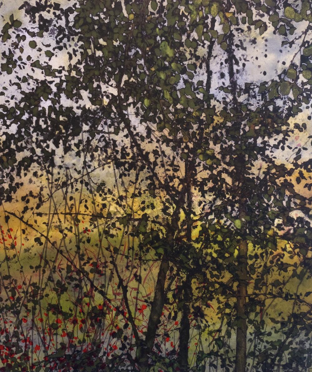 Petit bruissement  techniques mixtes sur toile  51 x 41 cm  2018