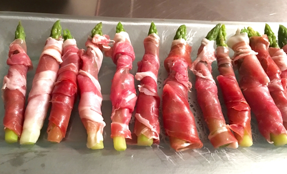 This wonderful combination of prosciutto and asparagus can be prepped a day in advance.
