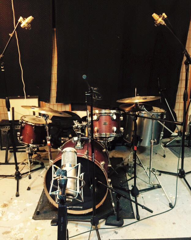 tracking drums @Alligator Lady studios Brooklyn