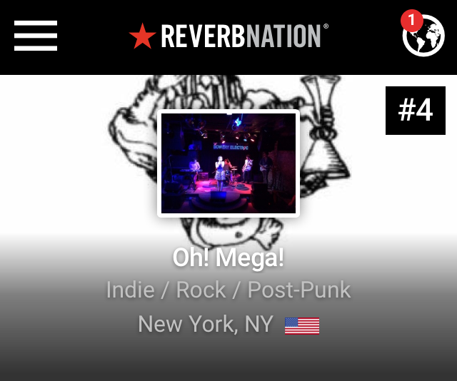 on top of Reverbnation list emerging Indie/Rock/Post-Punk bands