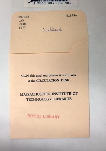 Concept 2.  Library Circulation Cards