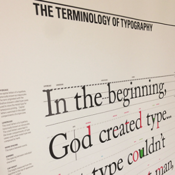 The Terminology of Typography , 2013