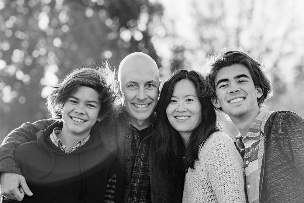Santa Cruz Family Black and White photo