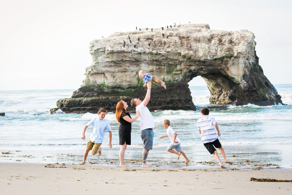 Santa Cruz family portrait at Natural Bridges.