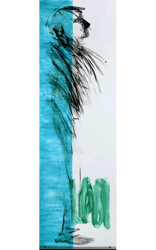 200cm x 60cmAcrylic on plexiglass.   35.000,- dkkr