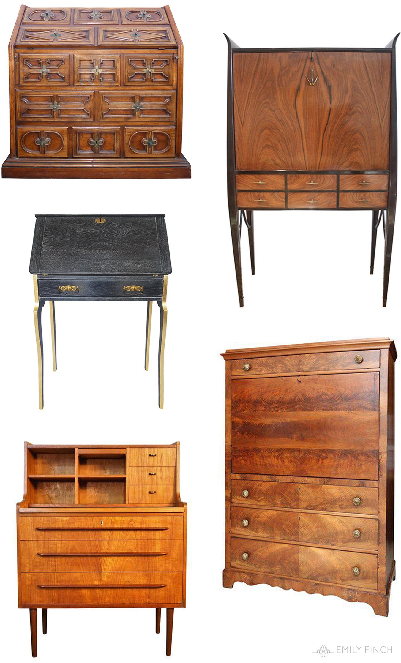 Vintage Secretary Desk >> Vintage Secretary Desks Emily Finch