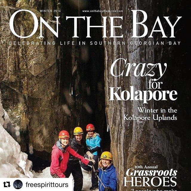 """Proud of UTOC's spin off """"Kolapore Wilderness Trails"""" by the efforts of the execs from the 70s, especially Bruce King.  #Repost @freespirittours with @repostapp ・・・ So happy to show off one of our favourite places in this area!#metcalfe #kolapore #covershot #lovetocave #onthebaymagazine #uoftalumni #uoft #findyourselfoutside #greybruce #doinitoutside #utoc"""