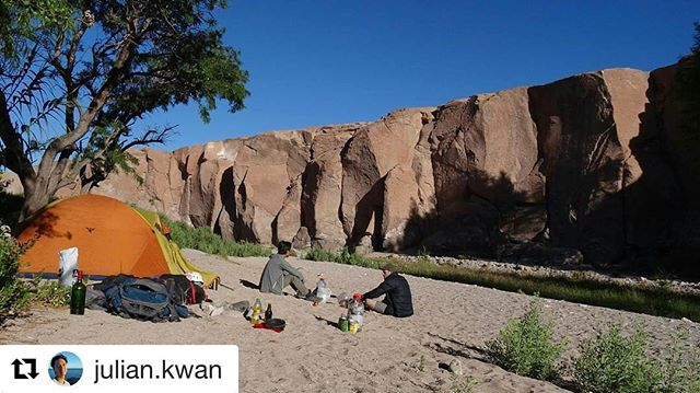 Thanks #mecnation for making this happen!  #Repost @julian.kwan with @repostapp ・・・ Great climbing and camping in a gorge in Toconao. Thanks for the tent @utoc_club gear rental ☺