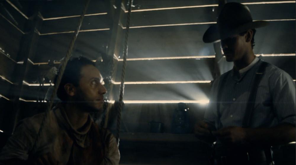 (Still from 'The Son' Season 1: Elliot Villar (Cesar) and Henry Garrett (Pete McCullough))