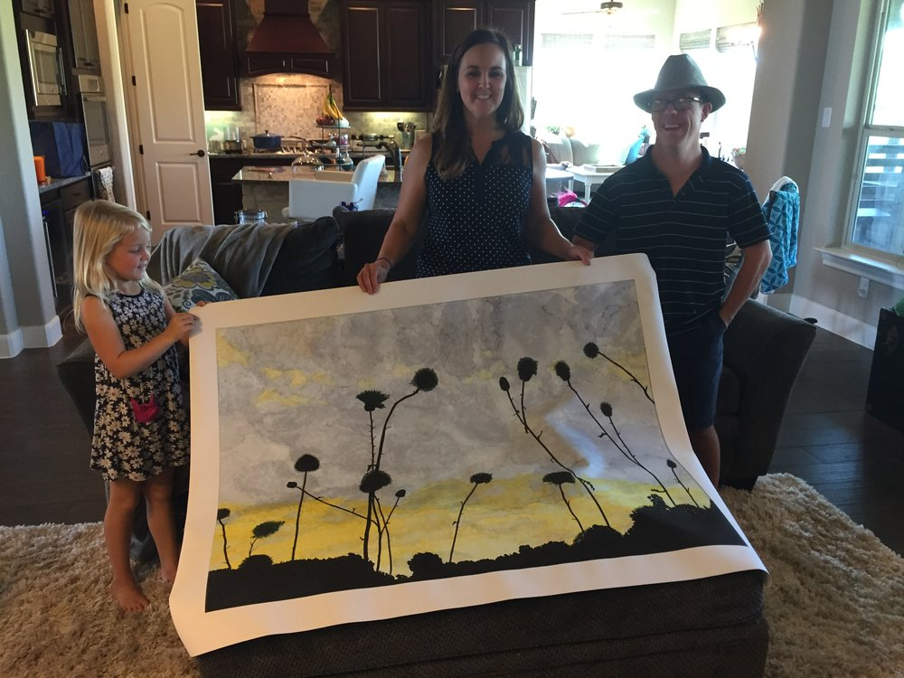 A sweet family in New Braunsfels ordered their favorite painting of Brandon's printed on a 36x48 canvas. It looks amazing and they were thrilled with the results.