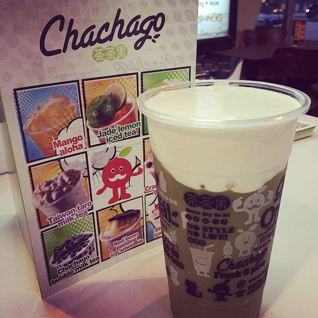 New Matcha Milk Frost!! #chachagotoronto #bubbletea #downtowntoronto #matcha #elmstreet #milktea