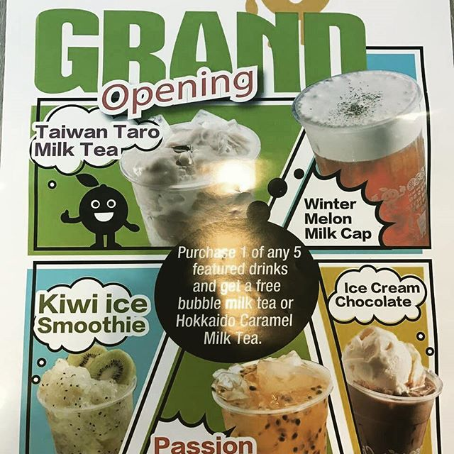 Chachago commerce gate grand opening on march 12!!! Purchase 1 of any 5 featured drinks and get a free Bubble milk tea or Hokkaido caramel milk tea!! #chachagotoronto #bubblewaffle #bubbletea #commercegate #juice #toronto #tea #taromilktea