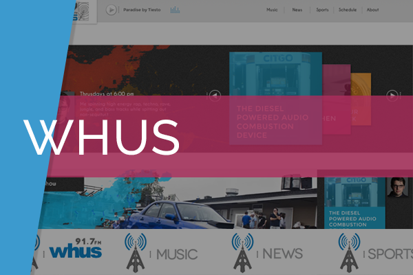 WHUS Radio WordPress Theme   Designed and developed custom WordPress theme for radio University Of Connecticut radio organization.