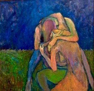 Embrace in a Park