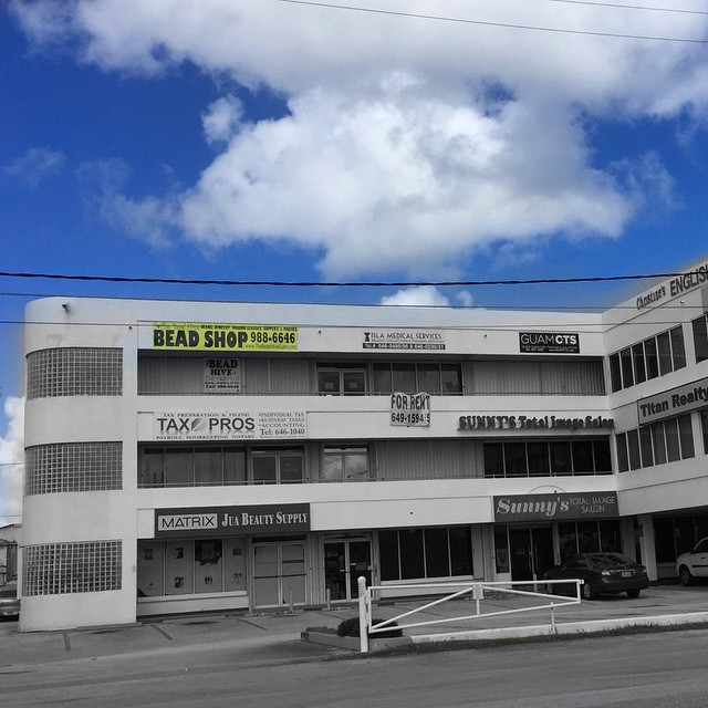 We're located at the Airport Road/Marine Drive intersection, behind Roasted Coffee Boutique and next to Mobil gas station.     Our new address is 121 Takano Lane, Suite 301, Tamuning, Guam 96913