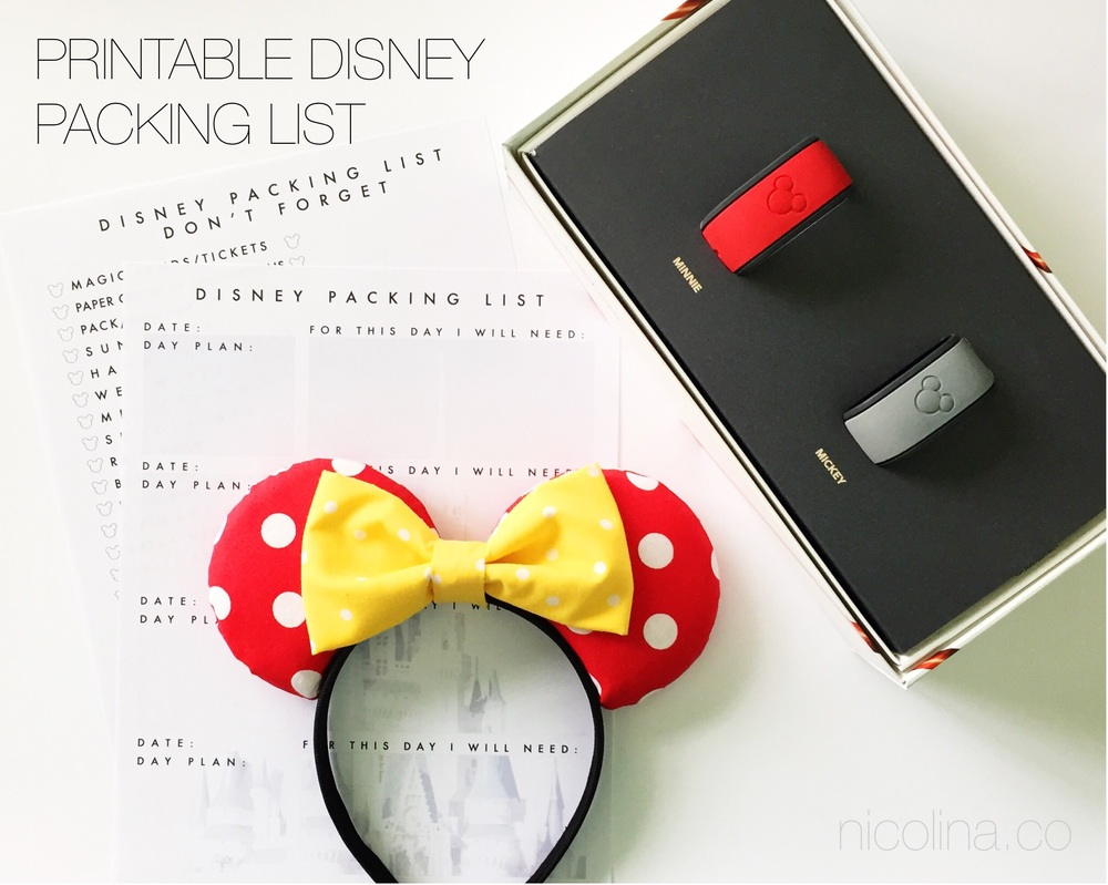 Printable Disney Packing List