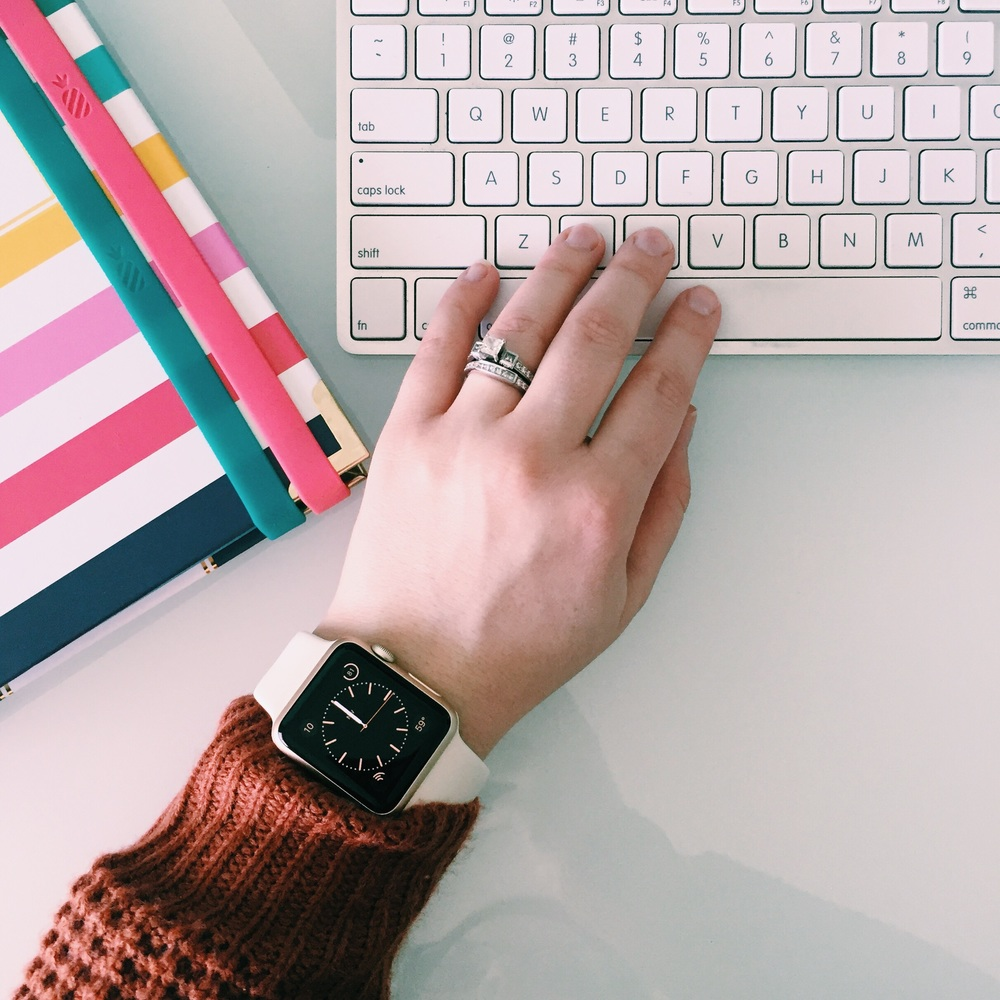 Apple Watch and Emily Ley Planner