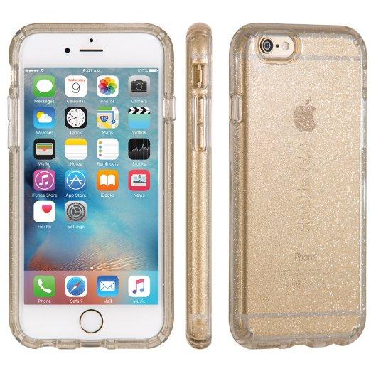 iPhone 6/6s Gold Glitter Clear Case