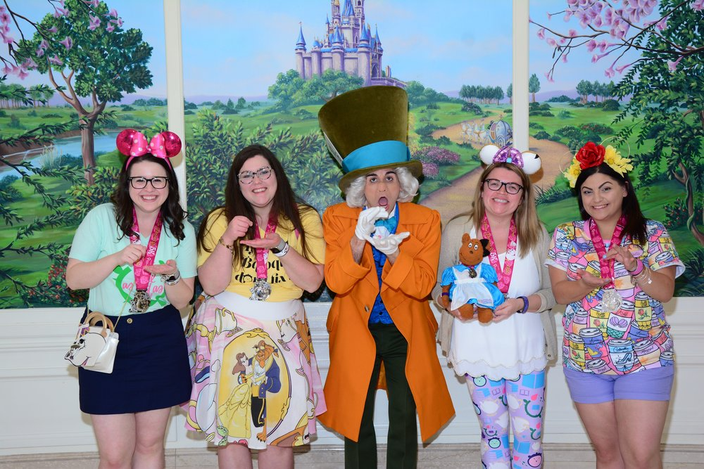 The rest of my brunch crew in their Beauty and the Beast inspired looks.  You can check out their cute Instagram accounts here: Left to right Me, Meghan, Casey and Beth.
