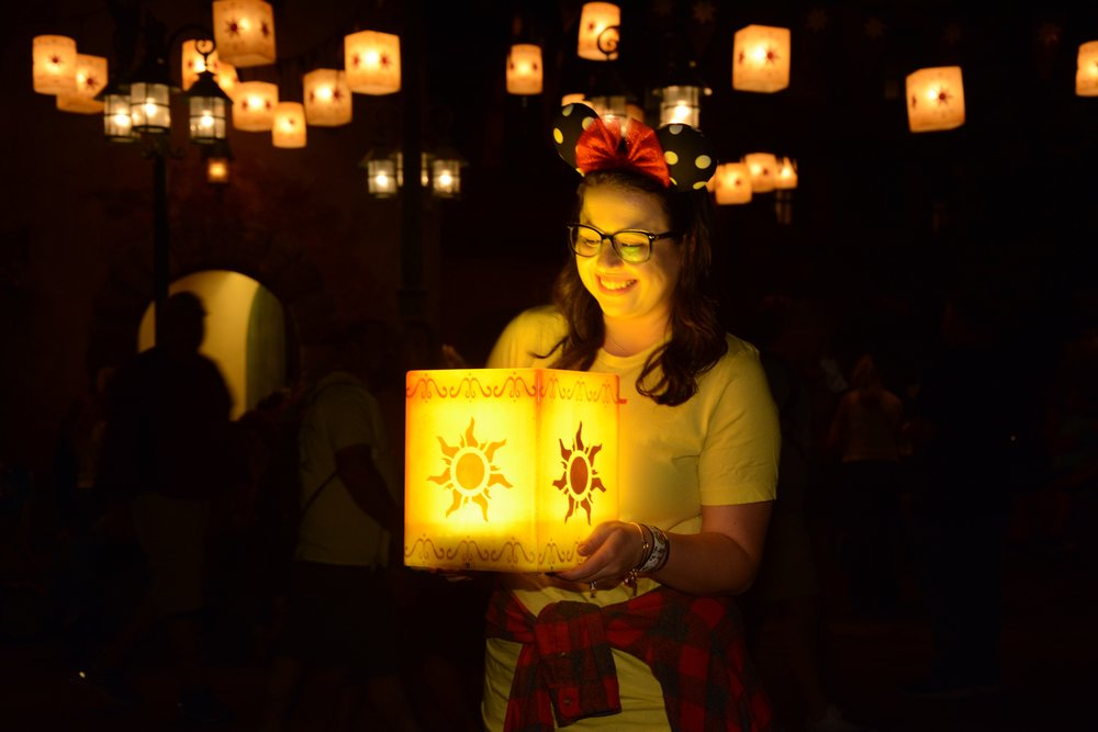 Floating Lantern Photopass in Magic Kingdom