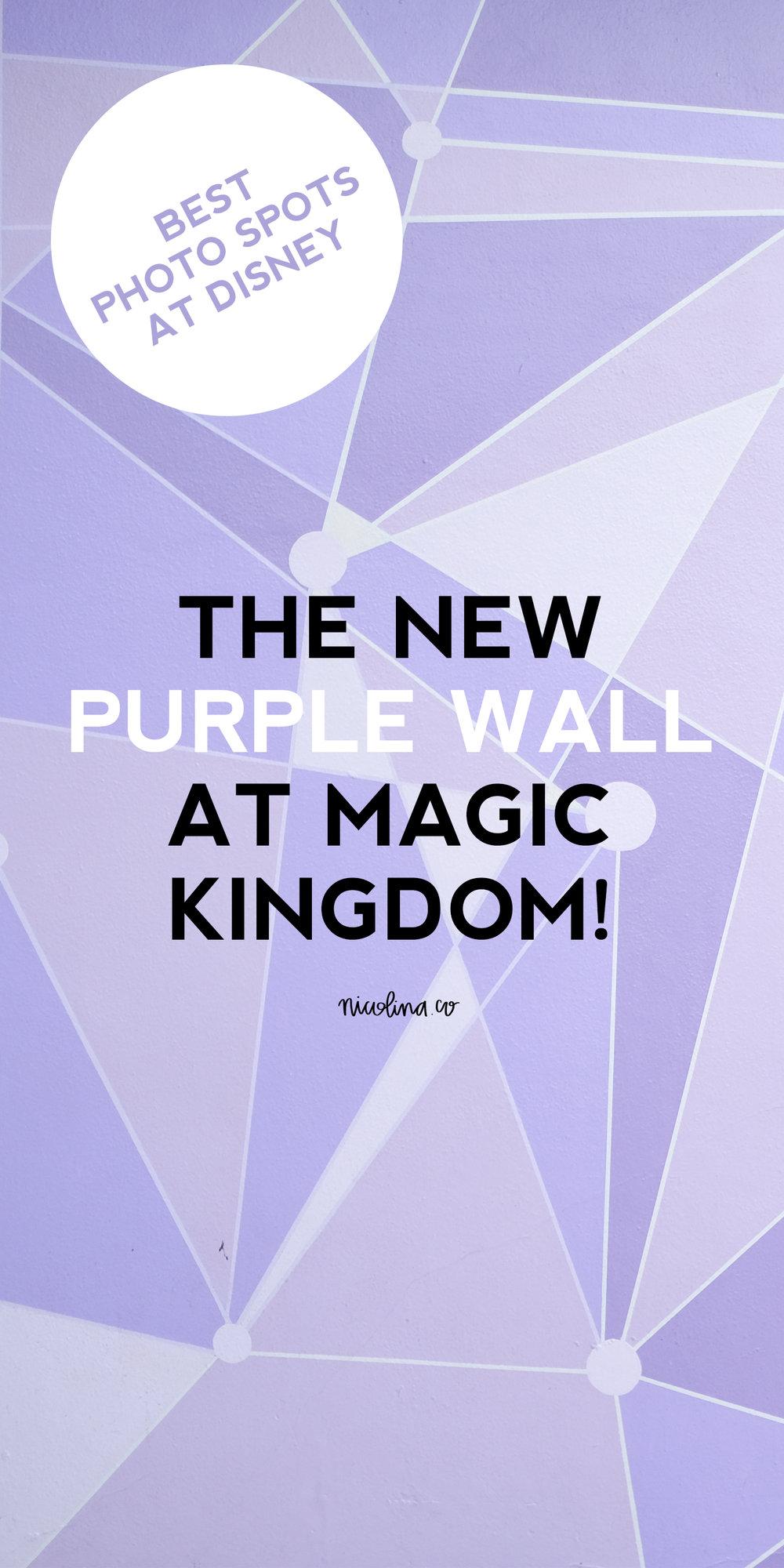 The Purple Wall at Disney's Magic Kingdom