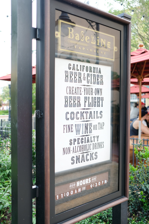 Gluten Free at Disney Baseline Tap House