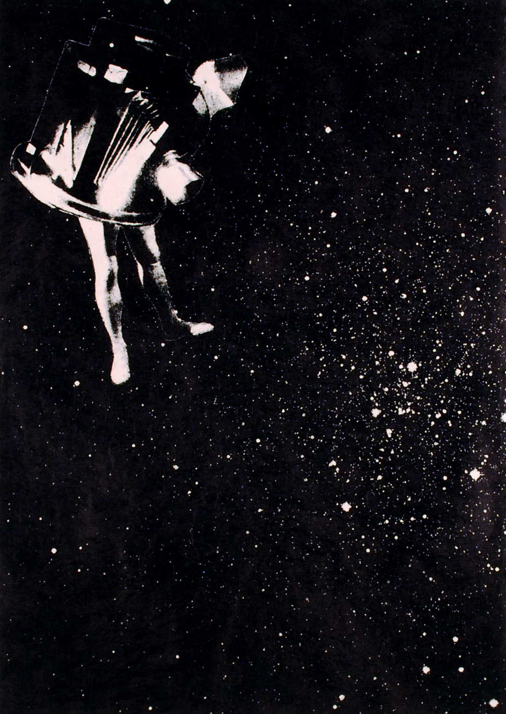 stargazing   chine-colle lithograph on rag paper  edition of 5  2011