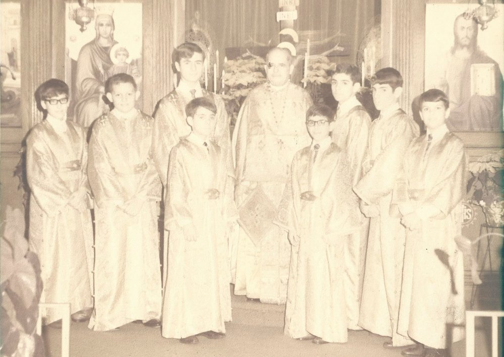 Fr. Demetrios Costarakis with Altar Servers