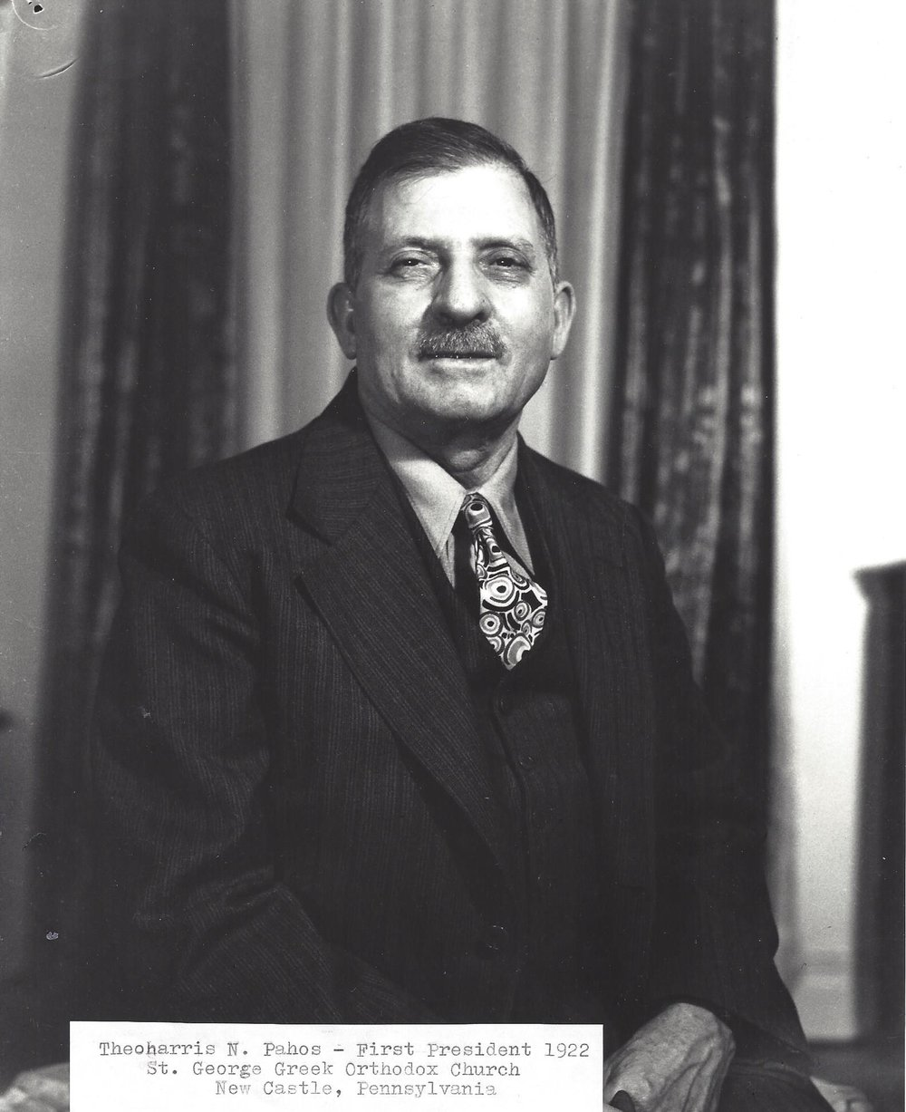 Theoharris N. Pahos - First Parish Council President 1922