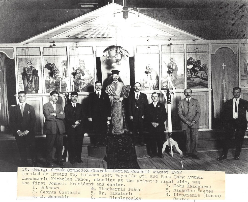 Fr. Sakelaris with Parish Council 1922