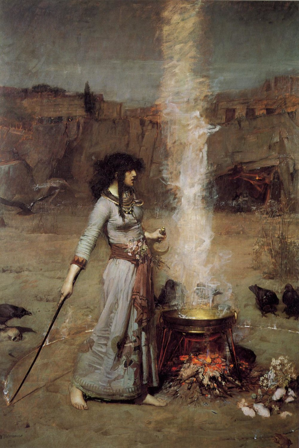 Waterhouse, John William. (1886)  Magic Circle.  Retrieved from: Wikimedia Commons website:  https://commons.wikimedia.org/wiki/File:John_William_Waterhouse_