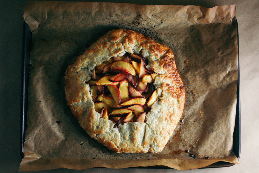 Plum and Nectarine Galette