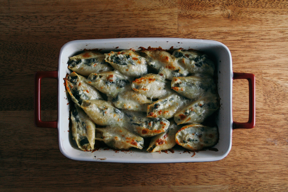 chicken spinach artichoke stuffed shells mozzarella cream cheese