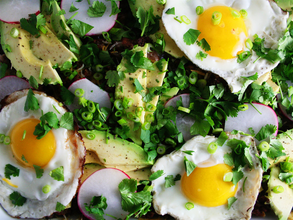 Salsa Verde Chilaquiles for a Crowd | The City Skillet