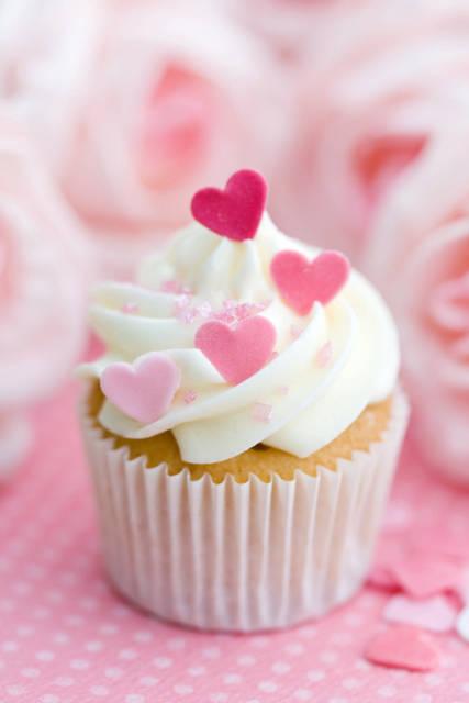 Hearts Sprinkles Cupcakes