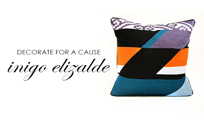 Shop Inigo Elizalde Pillows for Typhoon Haiyan Relief