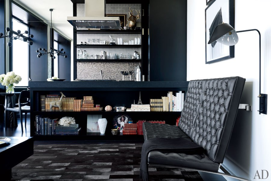 Gilles Mendel's Black and White Chelsea Apartment