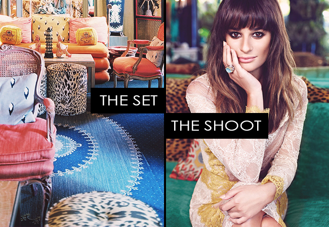 The Set, The Shoot: Lea Michele for Flare