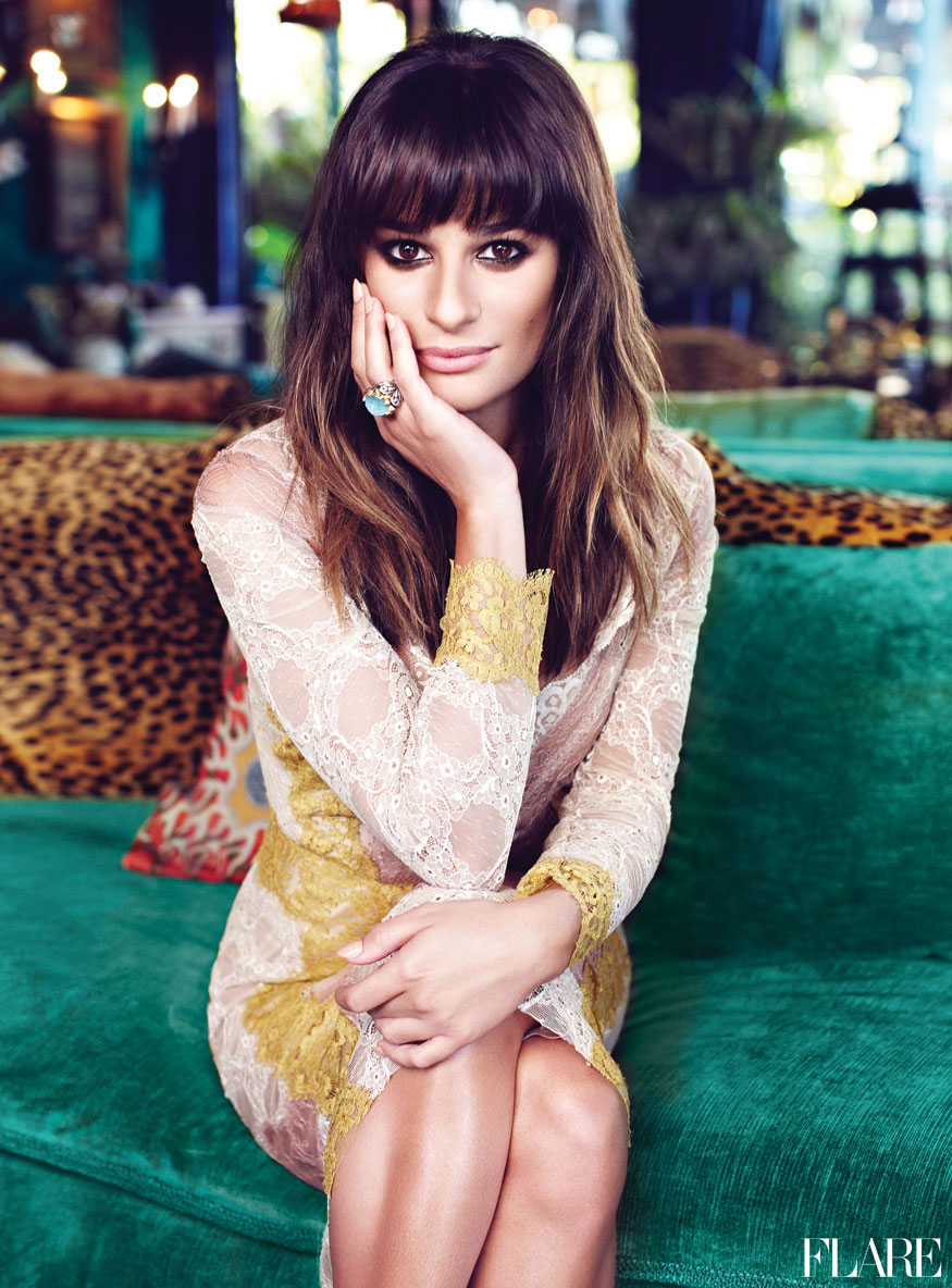 Lea Michele, Flare Magazine January 2013
