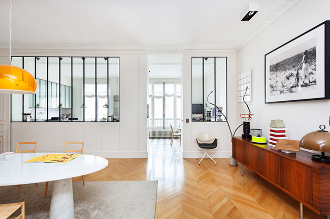 Paris Apartment by Sandra Benhamou