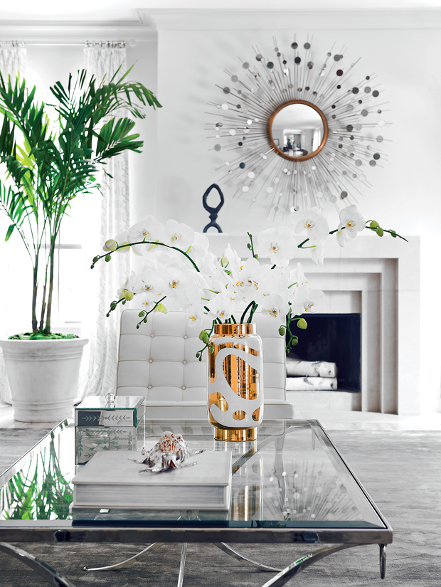 White Living Room Vignette
