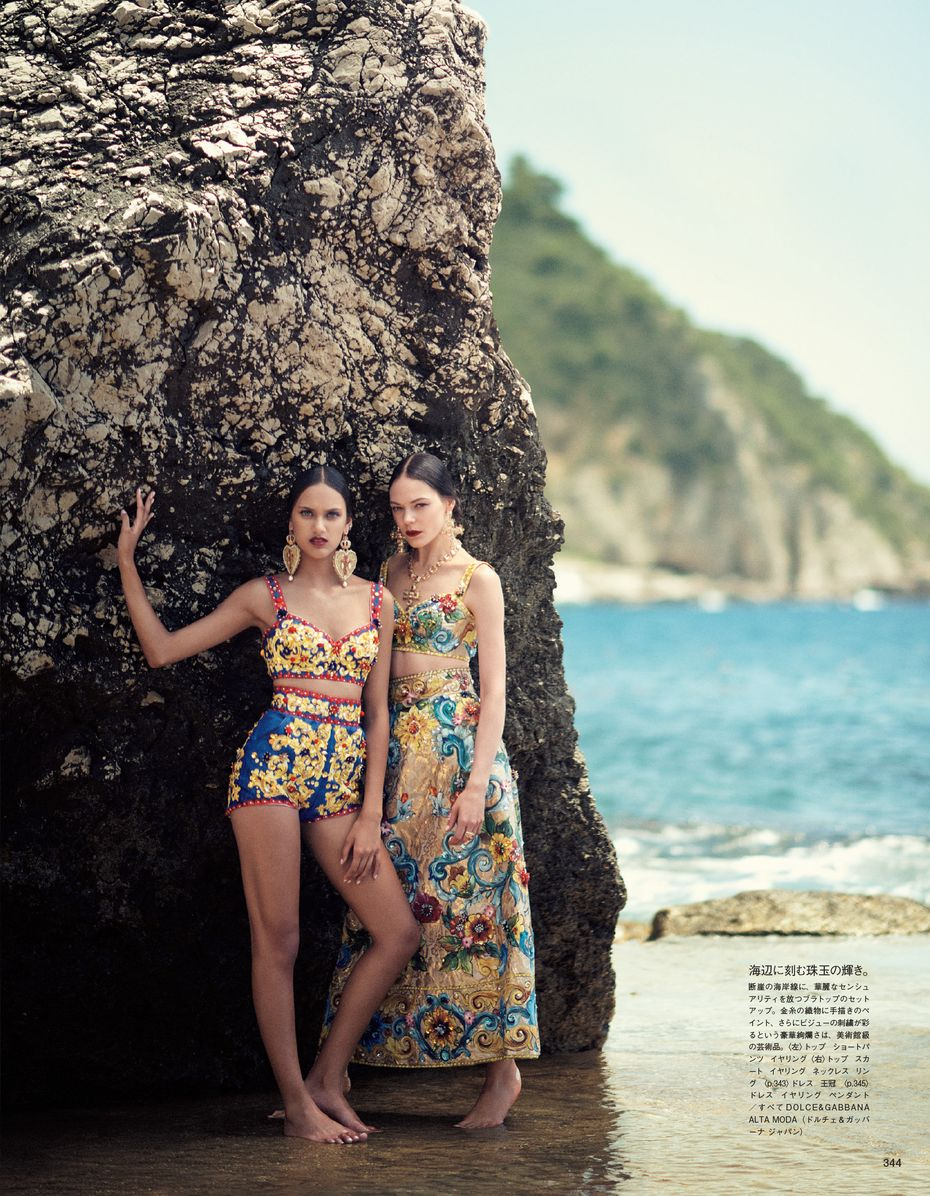 Dolce & Gabbana Alta Moda Fall Winter 2014, Vogue Japan, Oct 2014